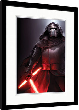 Poster Emoldurado Star Wars Episode VII: The Force Awakens - Kylo Ren Stance