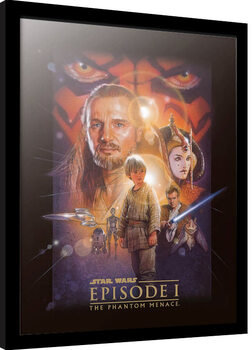 Poster Emoldurado Star Wars: Epizode I - The Phantom Menace