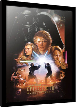 Poster Emoldurado Star Wars: Epizode III - Revenge Of The Sith