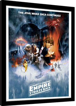 Poster Emoldurado Star Wars: The Empire Strikes Back - One Sheet