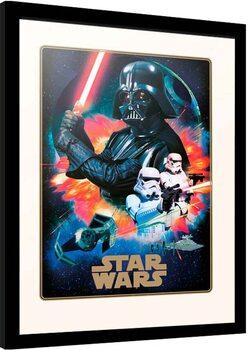 Poster Emoldurado Star Wars - Villains