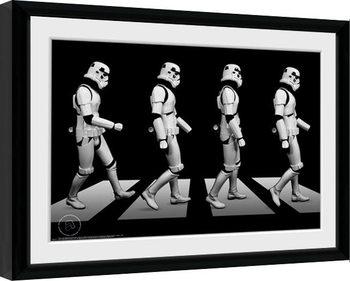 Poster Emoldurado Stormtrooper - Crossing