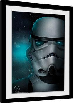 Poster Emoldurado Stormtrooper - Helmet