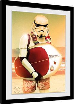 Poster Emoldurado Stormtrooper - Surf