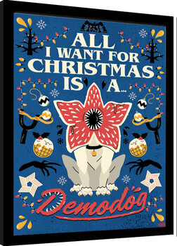 Poster Emoldurado Stranger Things - All I Want For Christmas