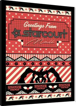Poster Emoldurado Stranger Things - Greetings From Starcourt Mall