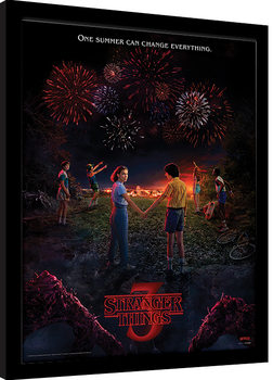 Poster Emoldurado Stranger Things - One Summer