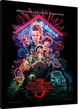 Poster Emoldurado Stranger Things - Summer of 85