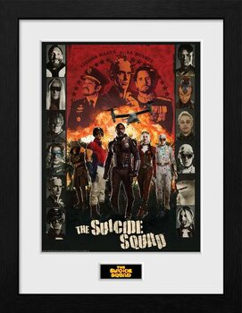 Poster Emoldurado Suicide Squad - Team