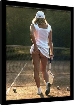 Poster Emoldurado Tennis Girl