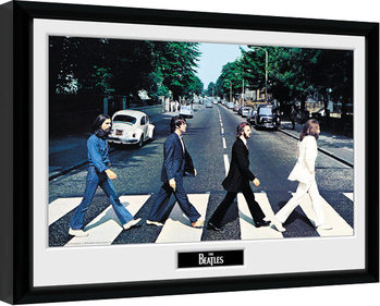 Poster Emoldurado The Beatles - Abbey Road