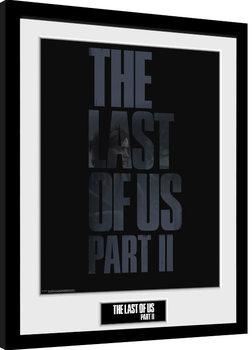 Poster Emoldurado The Last Of Us Part 2 - Logo