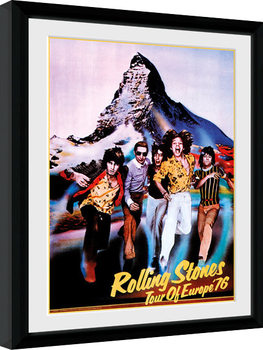 Poster Emoldurado The Rolling Stones - On Tour 76