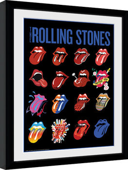 Poster Emoldurado The Rolling Stones - Tongues