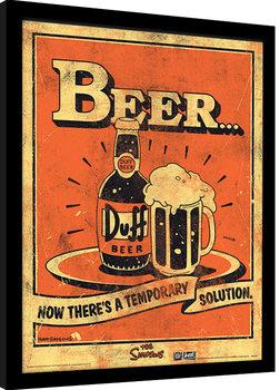 Poster Emoldurado The Simpsons - Beer…