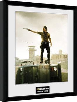 Poster Emoldurado The Walking Dead - Season 3