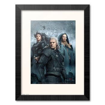 Poster Emoldurado The Witcher - Characters