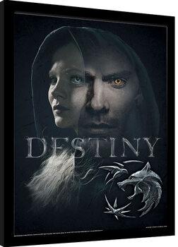 Poster Emoldurado The Witcher - Destiny