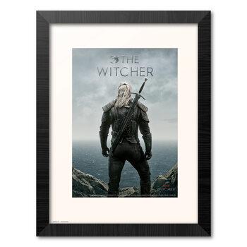 Poster Emoldurado The Witcher - Geralt Backwards