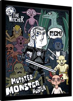 Poster Emoldurado The Witcher - Mutated Monster Hunter
