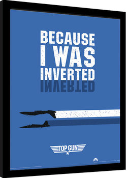 Poster Emoldurado Top Gun - Inverted