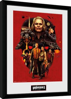 Poster Emoldurado Wolfenstein - Face of Death