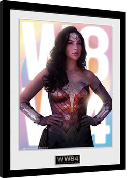 Poster Emoldurado Wonder Woman 1984 - Glow