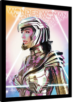 Poster Emoldurado Wonder Woman 1984 - Psychedelic Transcendence