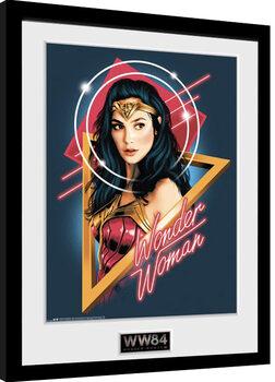 Poster Emoldurado Wonder Woman 1984 - Retro