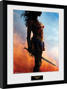 Poster Emoldurado Wonder Woman - Stand