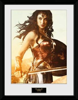 Poster Emoldurado Wonder Woman - Sword