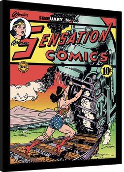 Poster Emoldurado Wonder Woman - Train Tussle
