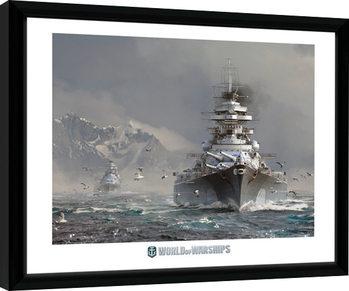 Poster Emoldurado World Of Warships - Bismark
