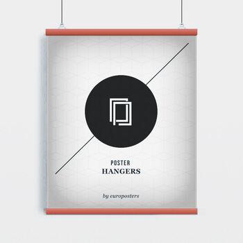 EBILAB Poster hangers - 2 pcs Length: 91,5 cm - red