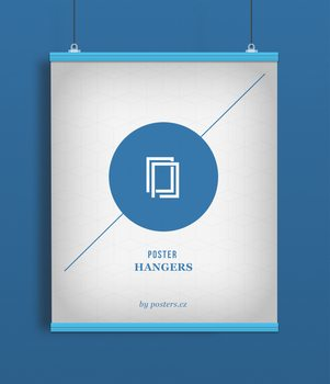 EBILAB Poster hangers 2 pieces Length: 91,5 cm - blue