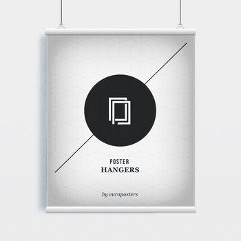 EBILAB Suporte para Poster - 2 peças comprimento 100 cm  branco