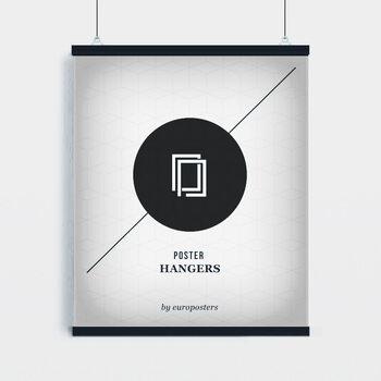 EBILAB Suporte para Poster - 2 peças comprimento 100 cm  preto