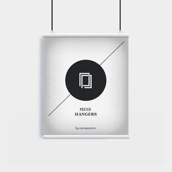 EBILAB Suporte para Poster - 2 peças comprimento 53 cm  branco