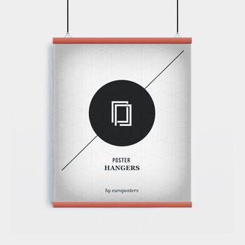 EBILAB Suporte para Poster - 2 peças comprimento 61 cm  vermelho