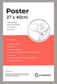 POSTERS Frame - Poster 26.7x40 cm Silver - Wood