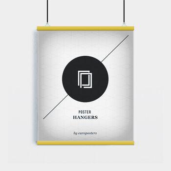 EBILAB Poster hangers - 2 pcs Length: 61 cm - yellow