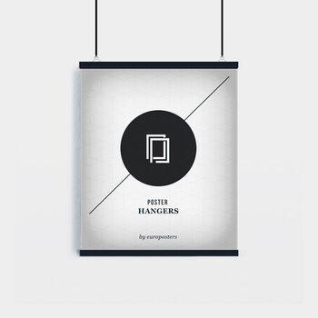 EBILAB Suporte para Poster - 2 peças comprimento 50 cm  preto