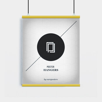 EBILAB Suporte para Poster - 2 peças comprimento 61 cm  amarelo