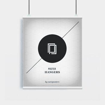 EBILAB Suporte para Poster - 2 peças comprimento 61 cm  branco