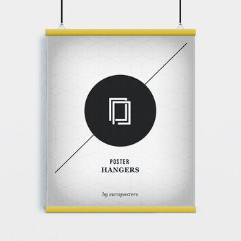EBILAB Suporte para Poster - 2 peças comprimento 91,5 cm amarelo