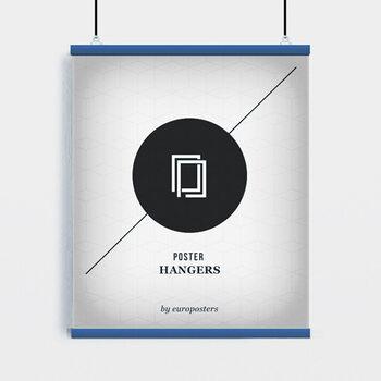 EBILAB Suporte para Poster - 2 peças comprimento 91,5 cm azul