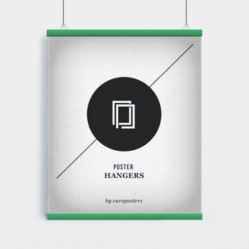EBILAB Suporte para Poster - 2 peças comprimento 91,5 cm verde