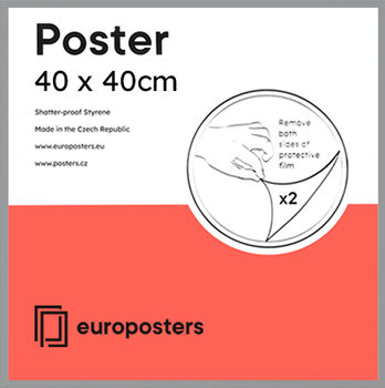 POSTERS Frame - Poster 40x40 cm Silver - Plastic