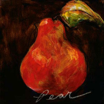 Red Pear Reproduction d'art