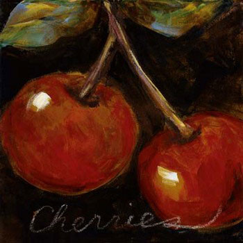 Ripe Cherries Reproduction d'art